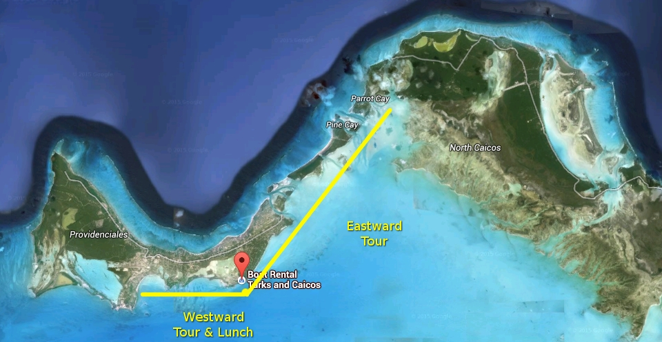 jet ski tour to parrot cay and five cays